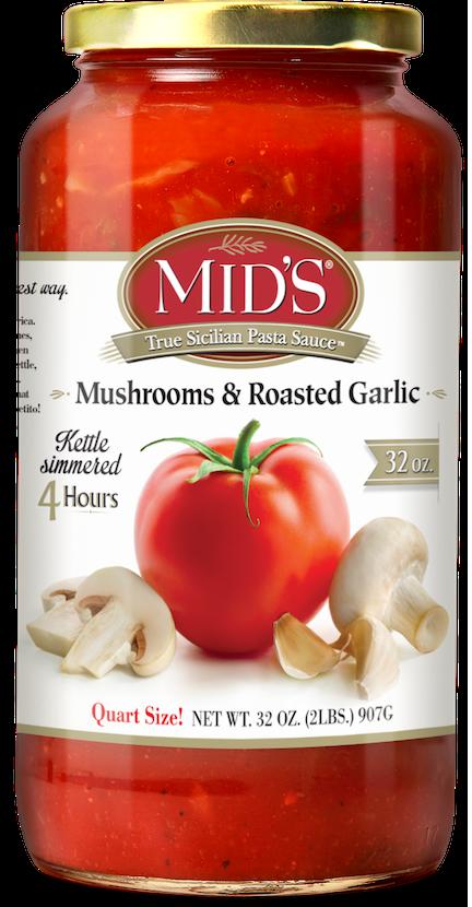 Mushrooms and Roasted Garlic